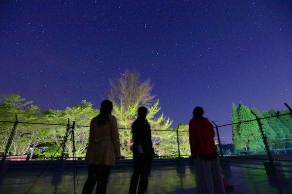 屋上で星空鑑賞